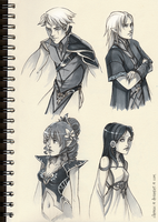Sketchbook Characters by Clareesi