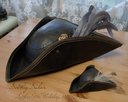 Bloodborne Lady Maria leather hat (replica) by Svetliy-Sudar