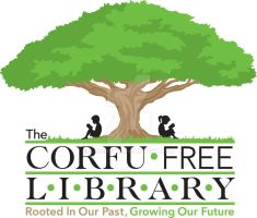 The Corfu Free Library Logo in color by Car2nst