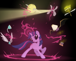 Twilight Defending Equestria by Yanoda