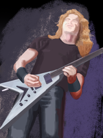 Dave Mustaine by Lusaen