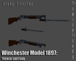 Winchester Model 1897 'Trench Shotgun' by DamianHandy