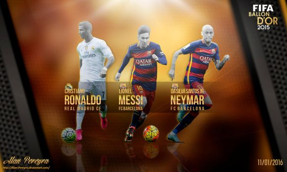 Wallpaper FIFA Ballon D'or 2015 by Alan-Pereyra by Alan-Pereyra