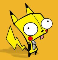 Gir + Pikachu by Another-Person-13-8