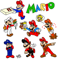 Buncha Marios by TuxedoMoroboshi