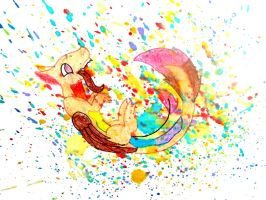 RAINBOW PAINT EXPLOSION!!!! by KaidahTheDragon