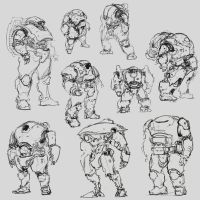 sketches for my portfolio by ProgV