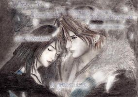 Squall and Rinoa by endlesssorrow