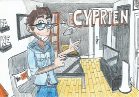 Cyprien, the Famous French YouTuber by FelixToonimeFanX360