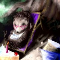 The hedgehog by Sixio