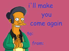 Simpsons Valentines day card by GlitchyJelly
