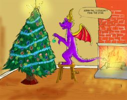 Spyro's Christmas by brightcat13527