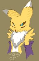 showing the tongue RENAMON by gurudJ