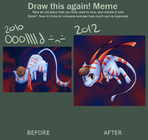 Improvement Meme: Bleu by DragonicSalphe