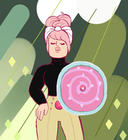 Rose Quartz solo mission attire by kierenrobinsonart