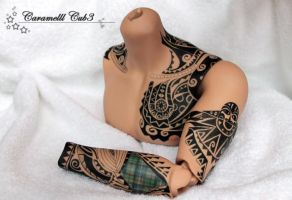 Iplehouse EID Arvid tattoo by CaramelllCube