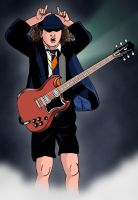 Angus Young by deanfenechanimations