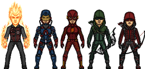 CW's JLA by MicroManED