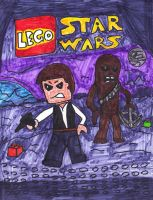 LEGO Han Solo and Chewbacca by SonicClone
