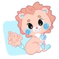 Cotton Candy Lion by the-secondstar
