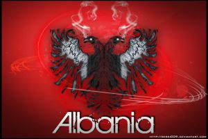 albania red flag by gersi009