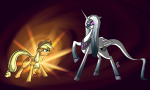 Stream Pic 03 - Applejack VS Super Nova by Dsurion