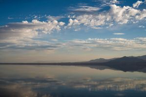 a line of clouds and the western shore by ffoster