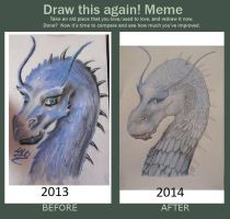 Draw this again ! meme by tequillka13