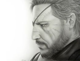 Metal Gear Solid V Big Boss by 8Bpencil