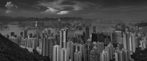 Hong Kong skyline by nonsensible