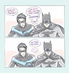 UTRH: Nightwing and Batman by mlle-annette