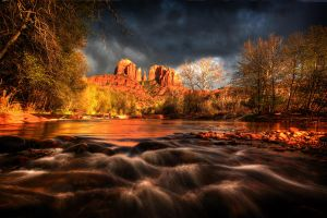 Cathedral Rock at Sunset by gursesl