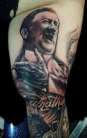 adolf hitler tattoo by hatefulss