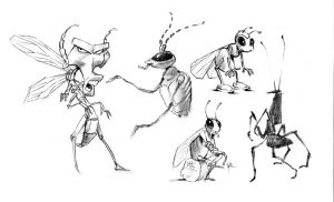 Bug character concepts by Eyth
