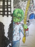 Grinch Jr after watching Nightmare before X-MAS by Inubaki