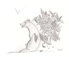 Crow wolf by Smilened
