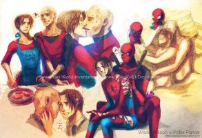 Yaoi Commission: Wade Wilson x Peter Parker by Yaoi-World