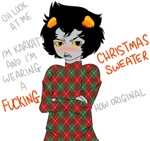 Christmas Sweater Karkat by my-name-is-totoro