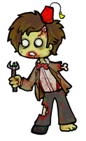11th Doctor Who Zombie by DemonicNeko