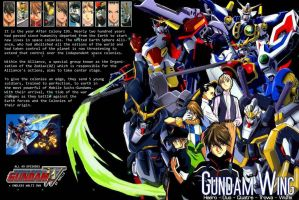 Gundam Wing DVD Cover by Moelleuh