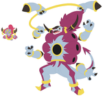 Hoopa and Hoopa Unbound Base by SelenaEde