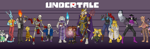 Undertale Character Concept Lineup by MrGwynplaine