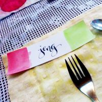 Place Cards Calligraphy 4 by jpaul