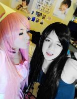 Princess Bubblegum and marceline cosplay ~AT by TinaIsTaiwanese