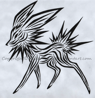 Jolteon Tattoo Design by Jester-Wolf