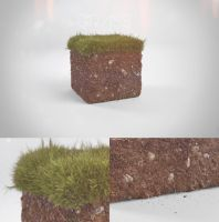 Realistic Minecraft grass block by Patan77xD