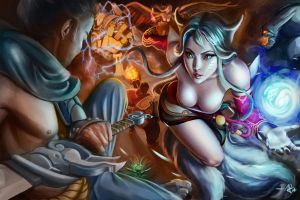 League of Legends Face off contest by bluelightbubble
