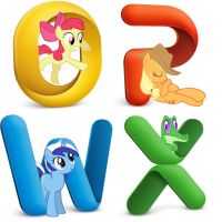 Microsoft Office 2011 Pony Icons by Snoopy20111
