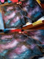 Galaxy Shorts DIY by a-maze-us
