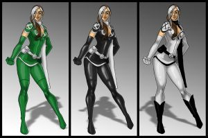 Rogue costume variants by skyboy16